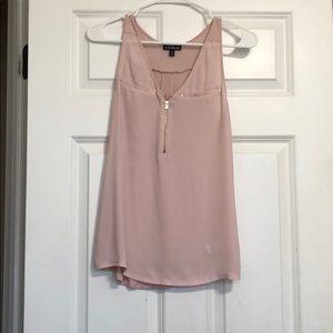 zip up pink blouse